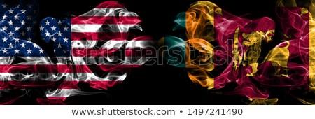Futball lángok zászló Sri Lanka fekete 3d illusztráció Stock fotó © MikhailMishchenko
