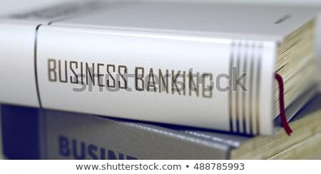 Hipoteka książki tytuł kręgosłup Zdjęcia stock © tashatuvango