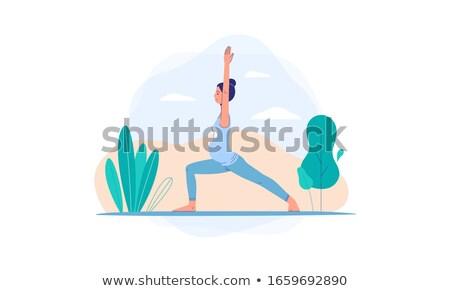 Gravidanza esercizio yoga pilates donna incinta fitness Foto d'archivio © RedKoala