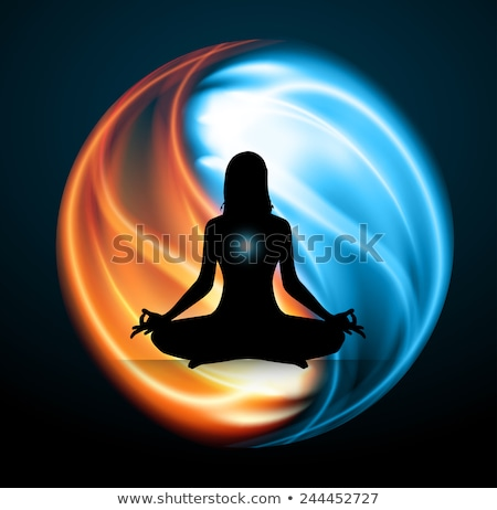 szimbólum · harmónia · egyensúly · felirat · ázsiai · vallás - stock fotó © adrian_n