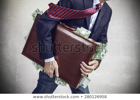 Ladrón bolsa dinero arte pop retro fondo Foto stock © studiostoks