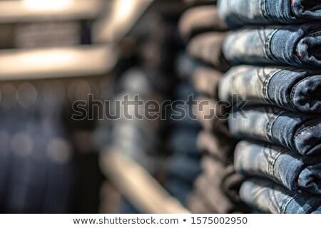 Atış katlanmış kot moda Stok fotoğraf © Nobilior
