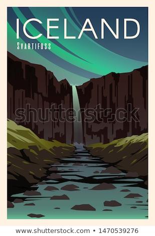 山 · 岩 · アイスランド · 氷河 - ストックフォト © kotenko