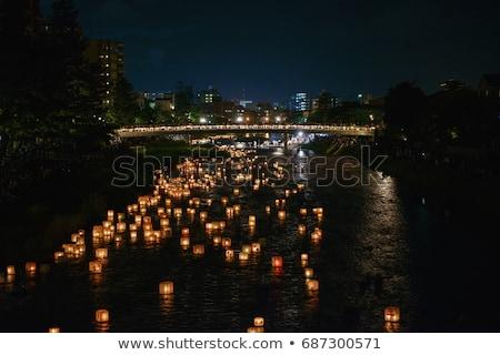 Arancione japanese lanterna fiori open spazio Foto d'archivio © jarenwicklund