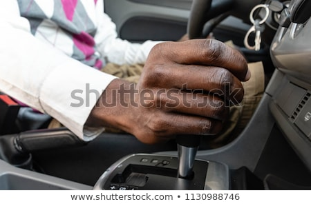 Male hand changing gear in the car Stock photo © stevanovicigor