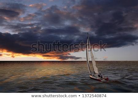 Veleiro mar céu esportes natureza Foto stock © Givaga