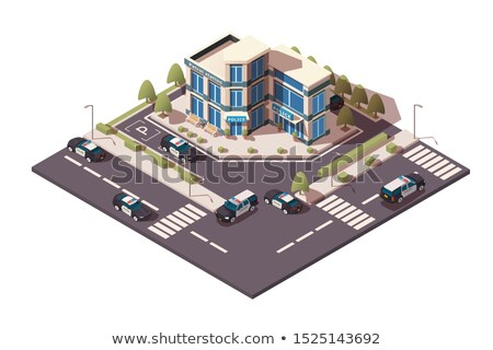 Public justice isometric 3D elements Stock photo © studioworkstock
