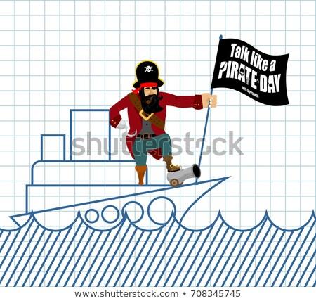 Internationalen sprechen wie Piraten Tag gemalt Stock foto © popaukropa