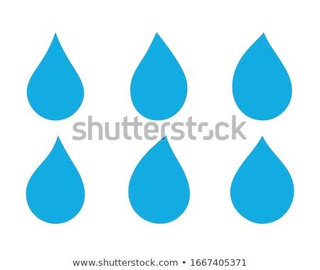 Nero drop isolato bianco olio inchiostro Foto d'archivio © pakete