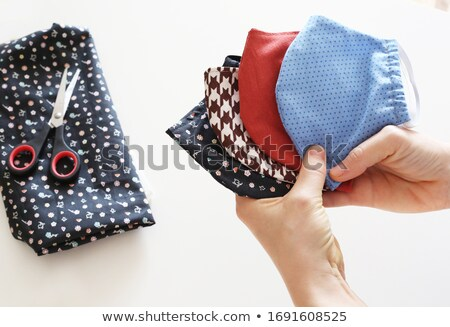 lány · tüsszentés · köhögés · bacilusok · illusztráció · gyermek - stock fotó © bluering
