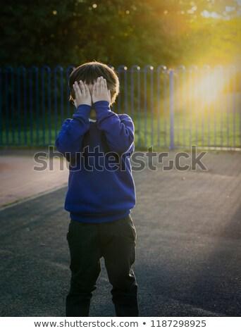 Zdjęcia stock: Mały · chłopca · oczy · zabawy · cool · poziomy