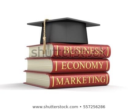 Business boek titel oplossingen wervelkolom Stockfoto © tashatuvango