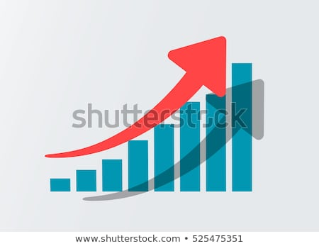 Büyüme grafik ikon diyagram kırmızı ok Stok fotoğraf © ikopylov