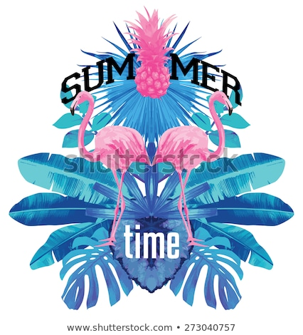 summer time flamingo card stock photo © anna_leni