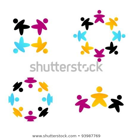cultural · diversidade · ilustração · crianças · diferente · étnico - foto stock © cienpies