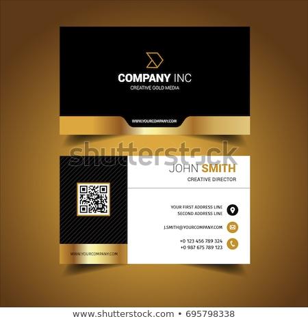 golden shiny business card design stock photo © sarts