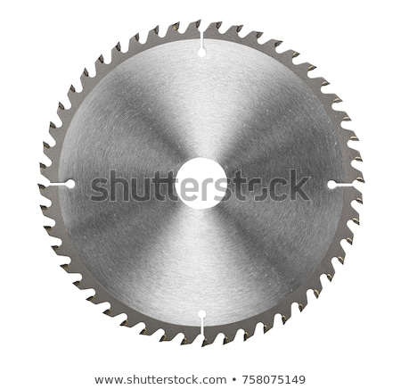 circular saw blade on white background stock photo © m_pavlov