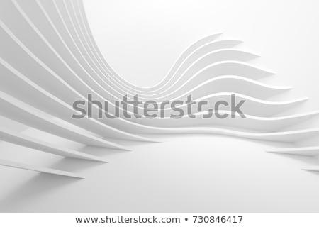 yeşil · podyum · 3D · iç · merdiven - stok fotoğraf © user_11870380