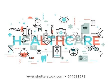 thin line design medical banner stock photo © genestro