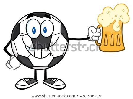 futbol · topu · bira · yalıtılmış · beyaz · parti · ışık - stok fotoğraf © hittoon
