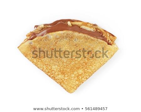 crepe with chocolate on white background Stock photo © M-studio