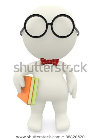Cartoon Scientist Bored Stock photo © cthoman