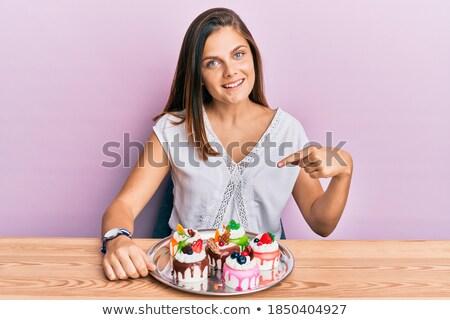 возбужденный · голодный · молодые · Октоберфест · женщину - Сток-фото © deandrobot