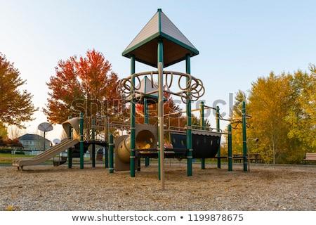 Gyerekek játszótér környék park őszi szezon gyerekek Stock fotó © davidgn