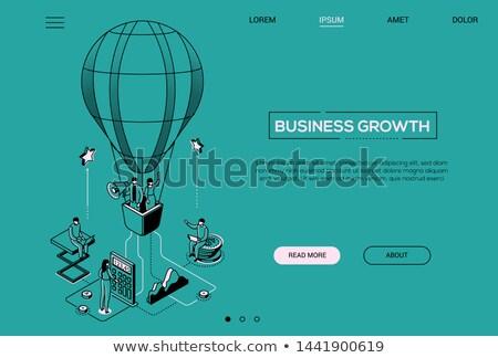 Pénzügyi tervezés színes vonal terv stílus fehér Stock fotó © Decorwithme
