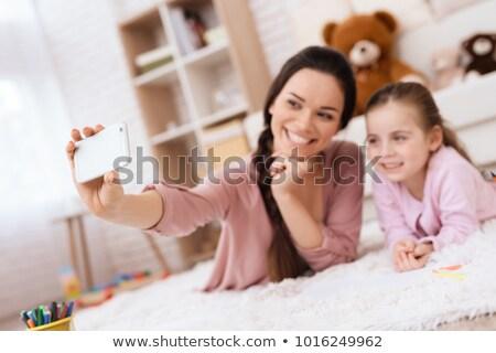 Childminder women_relax Stock photo © toyotoyo