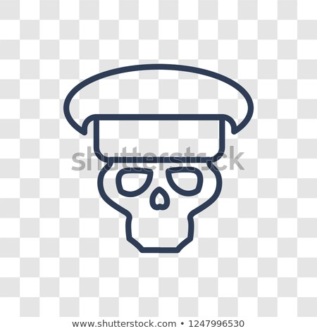 Сток-фото: Skull In Beret With The Eagle War Emblem