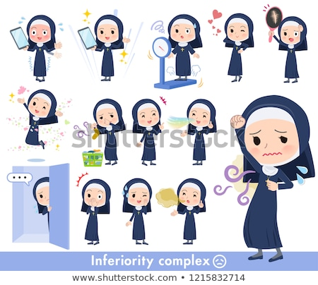 Nun women_complex Stock photo © toyotoyo