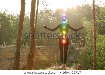色 女性 健康 行使 ヨガ パターン ストックフォト © anastasiya_popov