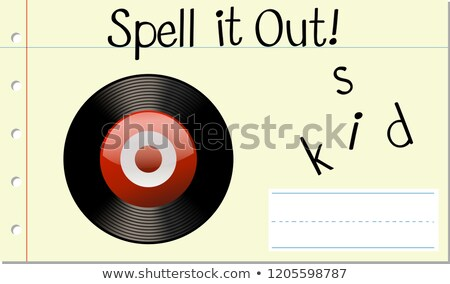 Spell English word disk Stock photo © bluering