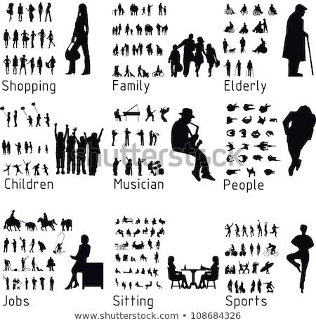 Fishing Set Active People Vector Illustration Stock photo © robuart