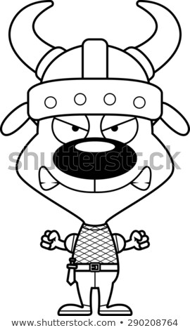 Cartoon Angry Viking Puppy stock photo © cthoman