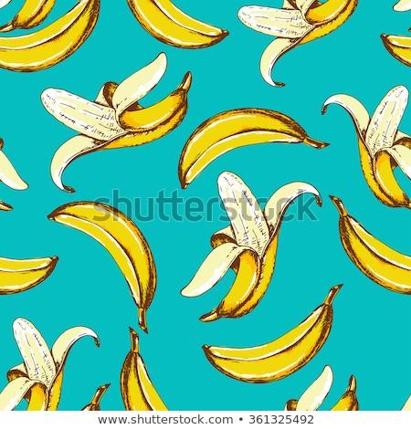 Végtelen minta banán gyümölcs firka stílus vektor Stock fotó © yopixart