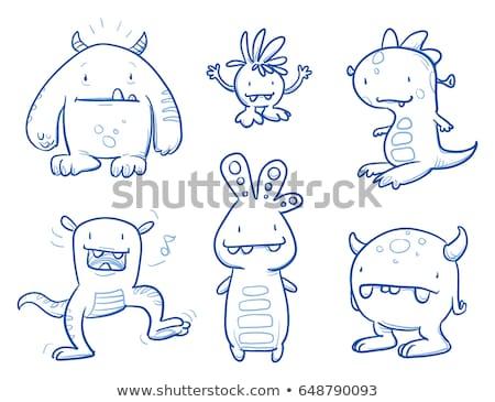 Cartoon Ogre Waving Stock photo © cthoman