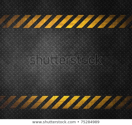 Stock fotó: Metal Background With Caution Tape