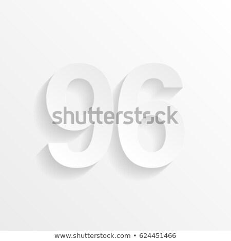 ninety six 96 number 9 and 6 logo vector icon stock photo © blaskorizov