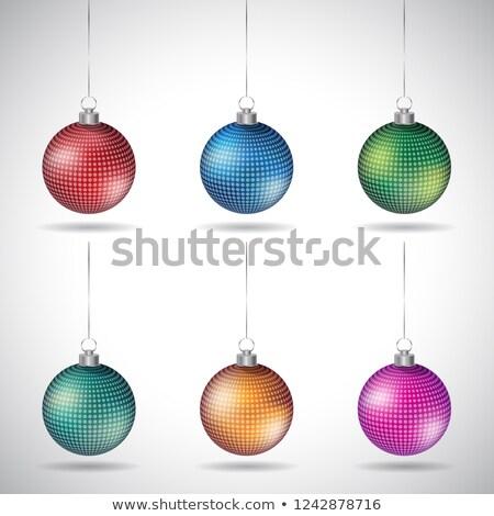 Natale piccolo argento string vettore Foto d'archivio © cidepix