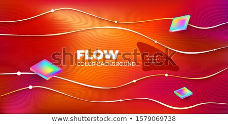 Gradient Fluid Background Vector. Motion Backdrop. Horizontal Label. Digital Concept. Liquid Design  Stock photo © pikepicture