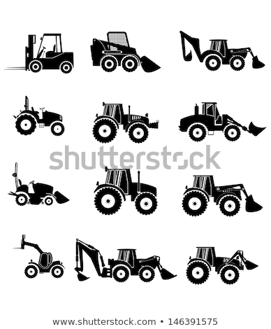 Stockfoto: Loader And Tractor Agriculture Vector Illustration