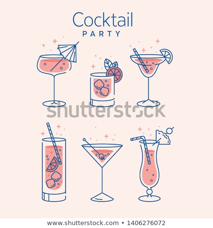 summer party with cocktails vector illustration stock photo © robuart
