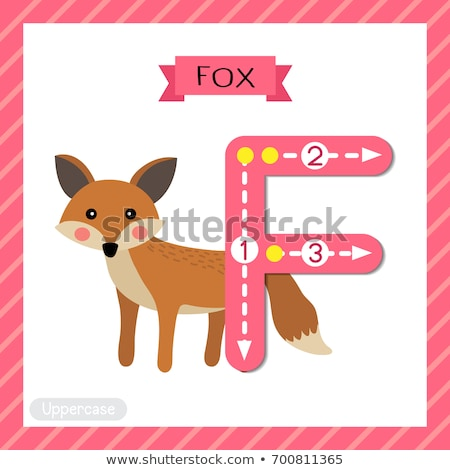Fox Character and Uppercase F for Kids Alphabet Stock photo © robuart