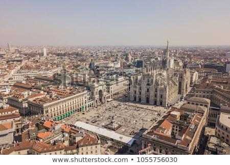Arquitectura techo catedral mármol gótico milán Foto stock © vapi
