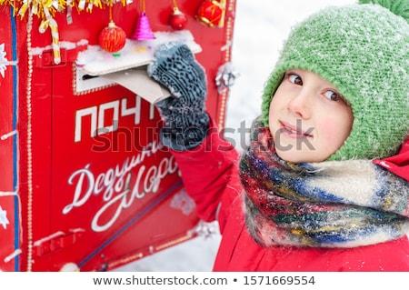 Criança menino cartões postais e-mail ilustração pequeno Foto stock © lenm