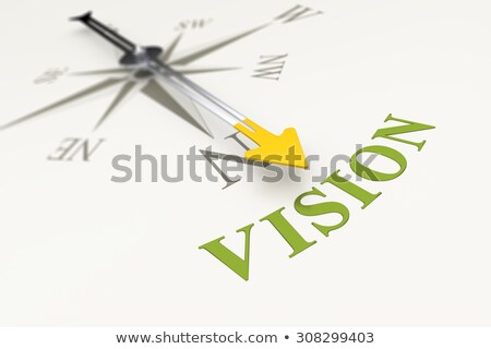 Stock photo: Compass On White Background Future Concept