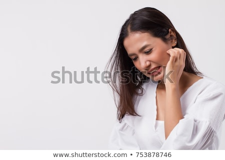 Woman Scratching Her Neck Stock photo © AndreyPopov