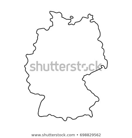 Alemanha mapa vetor ícone símbolo assinar Foto stock © blaskorizov